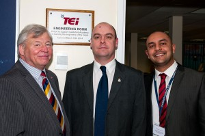 L to R Bill Clift – School Governor, Mick Heatlie – TEi Training and Development Manager, George Panayiotou - Headteacher
