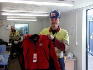 Apprentice welder Will Craven