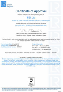 ISO 9001, ISO 14001, OHSAS 18001 Certificate
