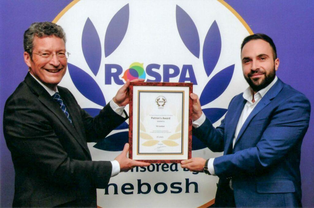 TEi Reciving ROSPA Award