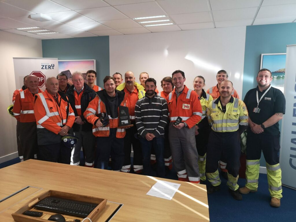 Safety Contribution Award at Pembroke Power Station