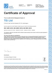 ISO 14001:2015, ISO 45001:2018, ISO 9001:2015